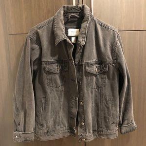 Black/ grey jean jacket, Forever 21